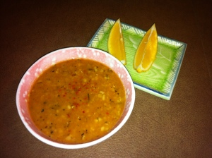 red lentil and mint